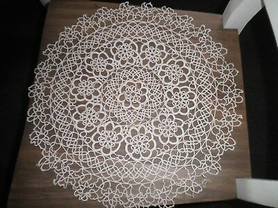 Beige Crocheted Doiley Large 45cms