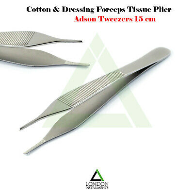 Dental Adson Tissue Forcep Tweezer Serrated Tip Plier Surgical Dentist Lab Tool