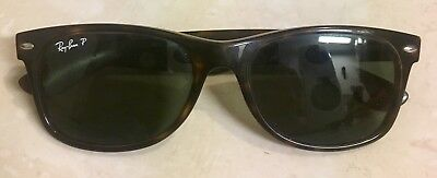 c6b6e500f22 Ray-Ban New Wayfarer Tortoise l Polarized Green Classic G-15 RB2132 902