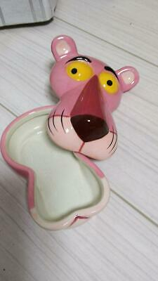 Rare! Pink Panther Piggy Ceramic Accessory Case about over 10 years ago item JPN