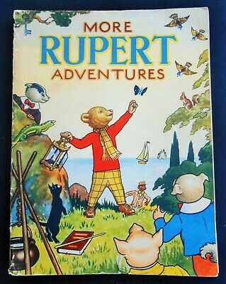Vintage Original 1943 Rupert Bear Annual, Price Unclipped 3/-