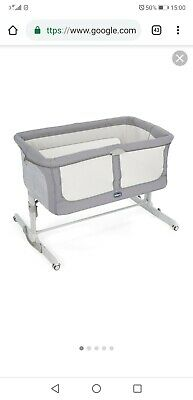 Next2me crib dream graphite chicco baby co sleeping cot bedside next to me grey