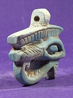 Circa 1075-332Bce - Beautiful Ancient Egyptian Stone Eye Of Horus Amulet
