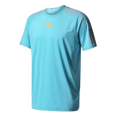 Adidas Men's Barricade Tennis Shirt Top New Samba Blue BK0679 Size S, M and L