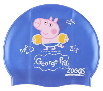 Zoggs Kids. George ( Peppa ) Pig Silicone Swimming Cap - Blue