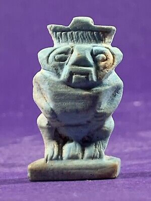 Circa 770-332Bce Ancient Egyptian God Of Protection - Bes Amulet