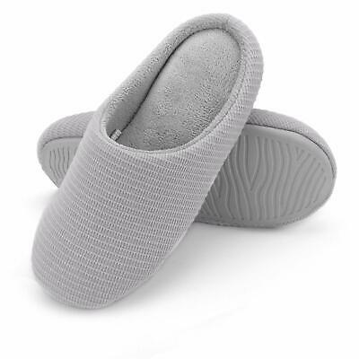 Mens Womens Memory Foam Slippers Slip On Soft House Shoes Warm Mules 8-9 12-13