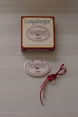 Longaberger 1999 Homestead Collector Club TIE-ON MIB Accesory