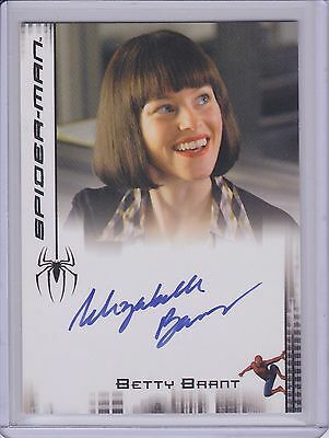 ELIZABETH BANKS Autographed 2007 SPIDER-MAN 2 Signed Card Betty Brant SPIDERMAN