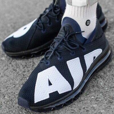 Nike Air Max Flair 942236-400 Dark Obsidian White Men s Running Shoes SZ 9 4d40b37e4