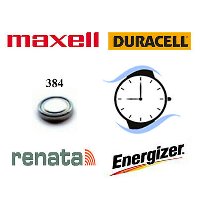 384 SR41SW Silver Oxide Watch Battery 1.55v Duracell Renata Maxell Energizer
