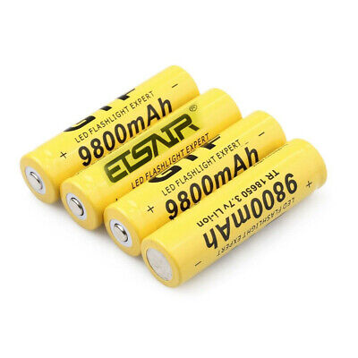 4X 18650 9999mAh Battery 3.7V Li-ion Rechargeable Batteries and 4.2V Charger