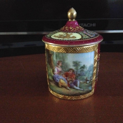 "ROYAL VIENNA  ANTICA 19thC "" TAZZA CON COPERCHIO"" - CUP -"