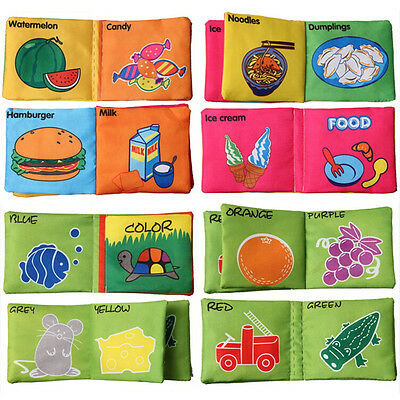Intelligence development Cloth Cognize Book Educational Toy for Kid Baby PLUS