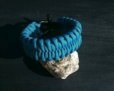 Handmade 7 5 Fishtail Belly Paracord Bracelet With Adjule Shackle