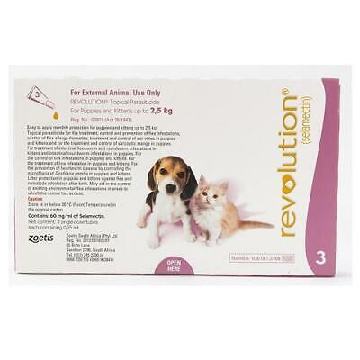 Revolution Spot-on For Puppies upto 2.5 kg (5 lbs), 3 Pack
