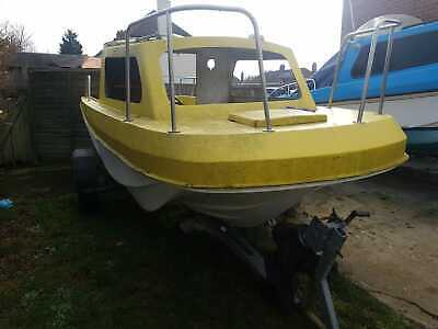 **PROJECT** wilson Flyer 18ft Fishing boat for a project or spares