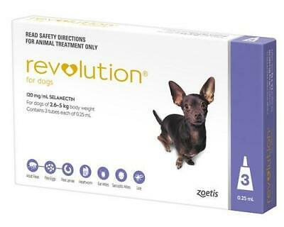 Revolution Spot-on For Dogs 2.6 - 5 kg (5-10 lbs), 3 Pack