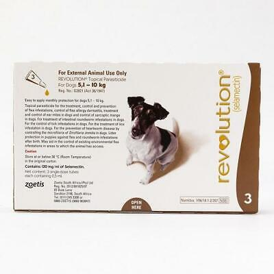 Revolution Spot-on For Dogs 5 - 10 kg (11-22 lbs), 3 Pack