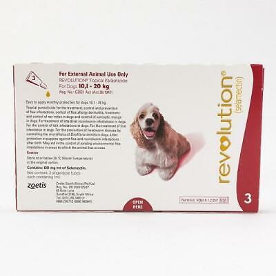 Revolution Spot-on For Dogs 10 - 20 kg (22-44 lbs), 3 Pack