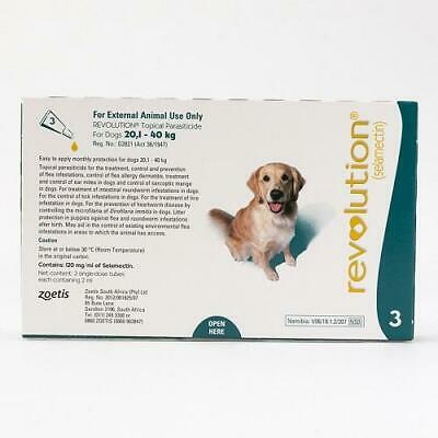 Revolution Spot-on For Dogs 20 - 40 kg (44-88 lbs), 3 Pack