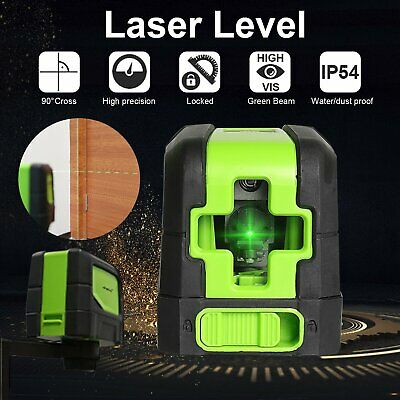 New Laser Level 2 Line Green Self Leveling 360° Rotary Cross Measure Tool +Mount