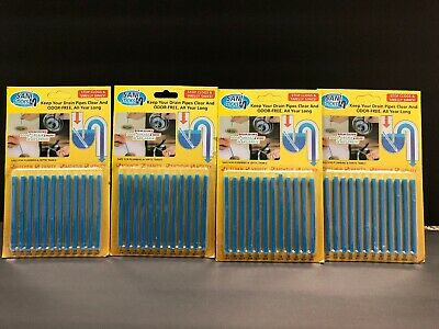 4Pack 48pcs Sani Sticks Keeps Drains And Pipes Clear And Odor Free As Seen On TV