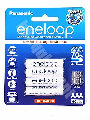 Panasonic eneloop BK-4MCCE Rechargeable AAA Pre-Charged 1.2v NiMH Battery x4