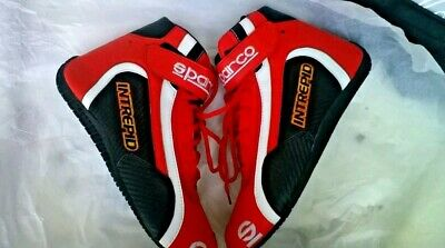 RED-SPARCO-INTERPID-Go-Kart-Racing-Shoes-with-free-Gift-Balaclava