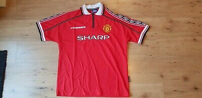 huge selection of 1d3aa dafe5 ** NEW ** Original Manchester United Umbro / Sharp Kit from the 1998/1999  Season