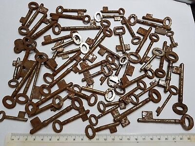 1 x Old Antique Vintage Key DIY UNCUT BLANKs Ward Bit Skeleton Keys MANY SIZES