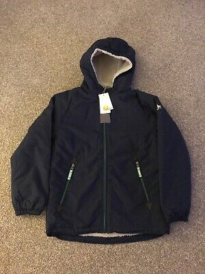 Mini Boden BRAND NEW Navy Sherpa Lined Coat in age 8-9