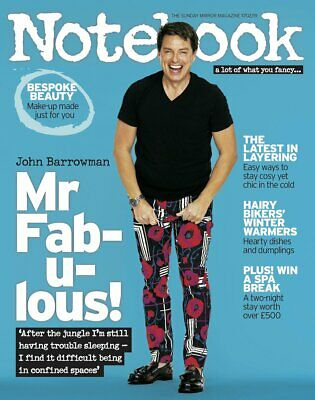 UK Notebook Magazine February 2019: Torchwood JOHN BARROWMAN COVER AND FEATURE