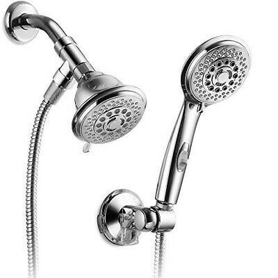 AquaCare by HotelSpa 36-Setting Shower-Head/Handheld Shower Combo with Revolutio