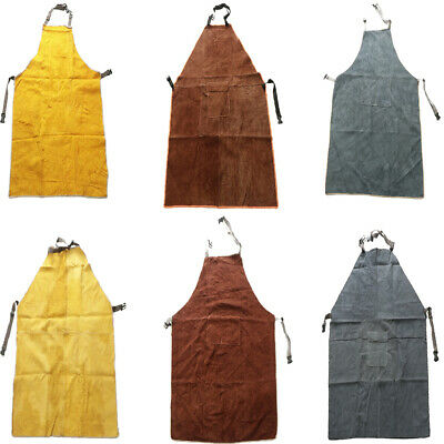 Cowhide Apron Welding Working Leather Chest Protector Apron Free Size
