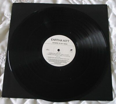 EARTHA KITT 'Where Is my Man' Great Promotional Record-see main section