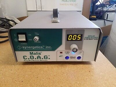 Synergetics Malis COAG Electrosurgical Unit as pictured working