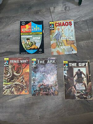 The Crusaders Comics Volumes 1, 5, 6,7, and 8 The Ark Chick Publications 1974