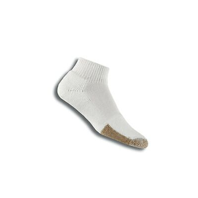 thorlos Men's TMX Tennis Thick Padded Ankle Sock White Tan Large