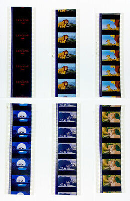 THE LION KING 1994 MOVIE 35mm FILM CELLS - 6 STRIPS OF 5 CELLS