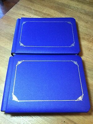 Set of 2 Creative Memories 5x7 Blue Sentiments Coverset Album with Pages