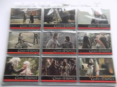Rittenhouse Game of Thrones Season 1 - complete set of 72 cards