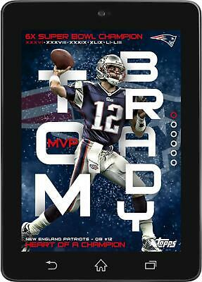 6f341972a Topps HUDDLE Tom Brady HEART OF A CHAMPION Super Bowl XXXVI MVP  DIGITAL   150cc