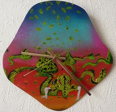HAWKWIND record wall clock..gong ..hand painted art..Ozric Tentacles..