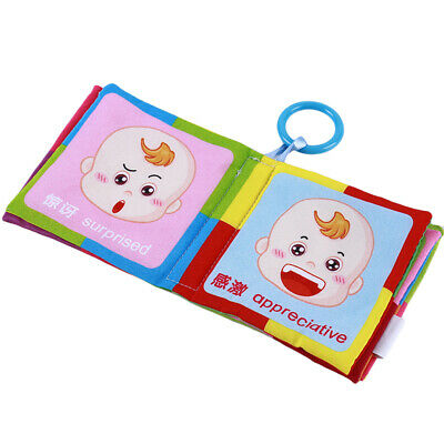 Baby Soft Cloth Book Kids Stroller Hanging Early Learning Develop Child Toys G