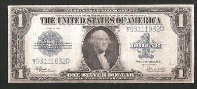Silver Certificate Horseblanket 1923 $1 Large Currency Note