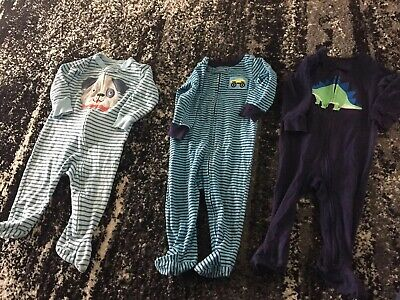 Carters Baby Toddler Boys 9 Months Footed Pajamas 3 Pairs