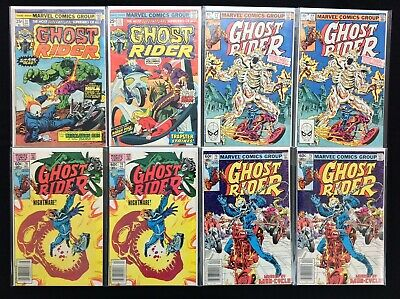 GHOST RIDER Lot of 8 Marvel Comic Books - #11 13 77 77 78 78 79 79!