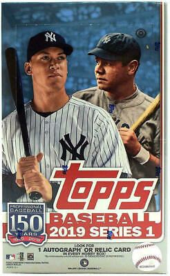 2019 Topps Series 1 Baseball BB HOBBY Box SEALED PLUS 1 Silver Pack!