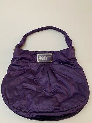 dd2f0f2a634 Marc by Marc Jacobs Workwear Bag Purple Nylon Handbag Purse Tote Gold  Hardware